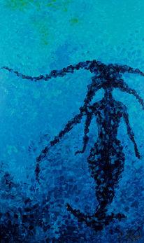 Meerjungfrau, Meer, Blau, Frau