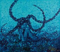 Blau, Meerjungfrau, Wasser, Meer