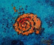 Muschel, Meer, Blau, Malerei