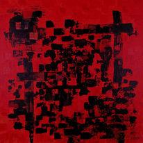 Rosa, Abstrakt, Wand, Malerei
