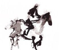 Beritten, Springpferd, Pferde, Abstrakt