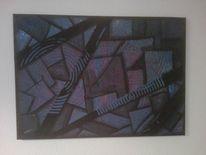 Acrylmalerei, Viereck, Geometrie, Malerei