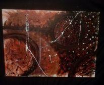 Abstrakt, Ureinwohner, Rot schwarz, Malerei