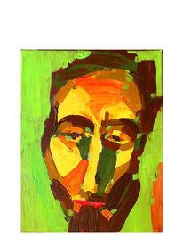 Gesicht, Mann, Grün, Portrait