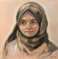 Mädchen, Menschen, Portrait, Malerei