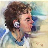 Junge, Portrait, Menschen, Profil