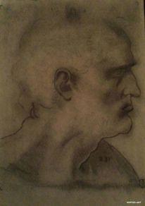 Portrait, Zeichnung, Skizze, Bleistiftzeichnung