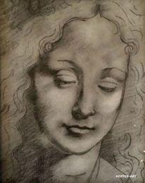 Schrafurtechnik, Leonardo da vinci, Zeichnung, Skizze