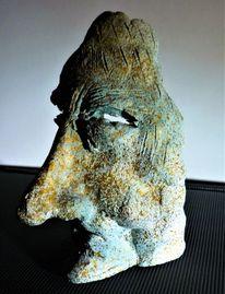 Skulptur, Figural, Keramik, Büste