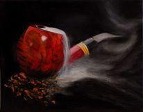 Rohr, Pfeife, Rauch, Malerei