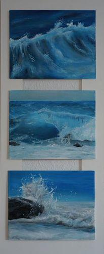 Wasser, Sturm, Meer, Malerei