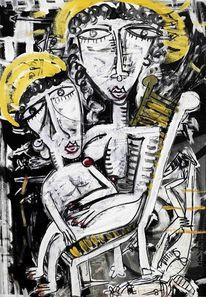 Zeitgenössische kunst, Italien, Kind, Kubismus
