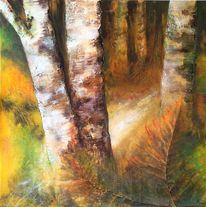 Malerei, Acrylmalerei, Herbst, Mischtechnik