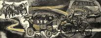 Mobilität, Gegenwartskunst, Radierung aquatinta, Druckgrafik