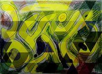 Bschoeni, Farben, Abstrakt, Knallig
