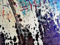 Bschoeni, Maserung, Graffiti, Abendstimmung