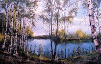 Licht, Fluss, Malschule, Landschaft