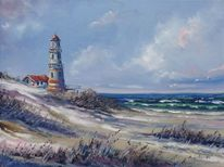 Insel, Malerei, Strand, Licht
