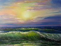 Landschaft, Welle, Malerei