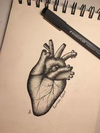 Menschen, Herz, Zeichnungen
