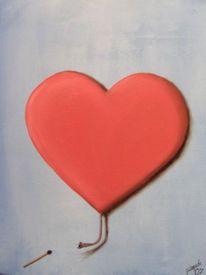 Gefühl, Herz, Knallkörper, Malerei