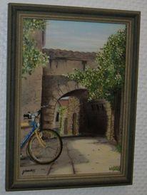 Kreta, Fahrrad, Tor, Malerei