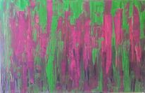 Grün, Acrylmalerei, Lila, Magenta