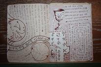 Buch, Füller, Zeichnung, Schrift
