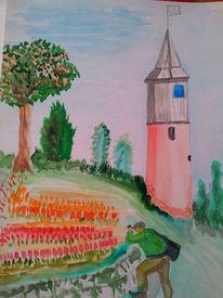 Himmelrot, Natur, Turm, See