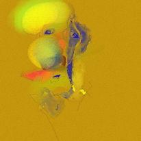 Fantasiewesen, Digital, Expressionismus, Portrait
