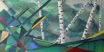Dreiecke, Schön, Surreal, Malerei