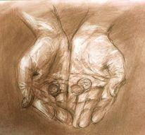 Zeichnung, Skizze, Hände, Zeichnungen