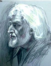 Portrait studie, Zeichnung, Portrait, Zeichnungen
