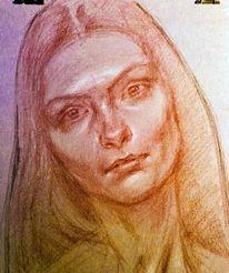 Zeichnung, Portrait, Skizze, Zeichnungen