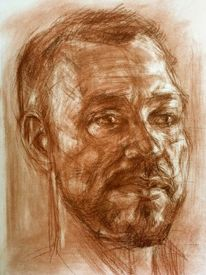 Zeichnung, Skizzenbuch, Portrait, Zeichnungen