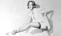 Figural, Bein, Portrait, Bluse