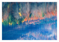 Landschaft, Malerei, See, Blau