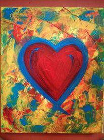 Abstrakt, Rot, Malerei, Liebe