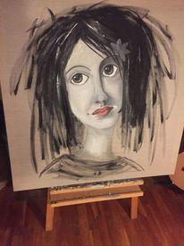 Frau, Göttin demeter, Malerei, Pigmente