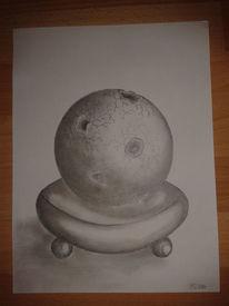 Geometrie, Kugel, Bleistiftzeichnung, Zeichnung