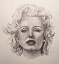 Marilyn monroe, Schauspieler, Zeichnungen