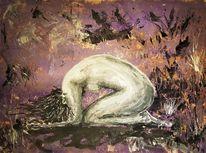 Frau, Malerei, Natur, Surreal