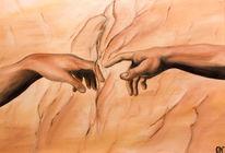 Hände, Berührung, Ölmalerei, Malerei