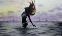 Meer, Sonnenuntergang, Wasser, Romantisch