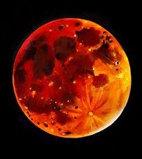 Eklipse, Totalität, Vollmond, Mondfinsternis