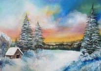 Wald, Landschaft, Schnee, Winter