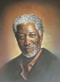Portrait, Morgan, Pastellmalerei, Zeichnungen