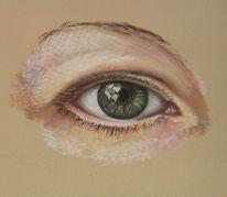Augen, Pastellmalerei, Zeichnungen, Blick