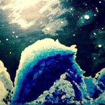 Blau, Weiß, Struktur, Abstrakt