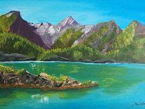 Malerei, Acrylmalerei, Landschaft, Natur